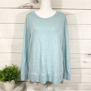 💕🌵LOFT Lounge Side Slit Light Blue Sweatshirt